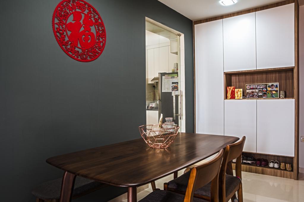 Modern, HDB, Dining Room, Geylang Serai, Interior Designer, Archive Design, Contemporary
