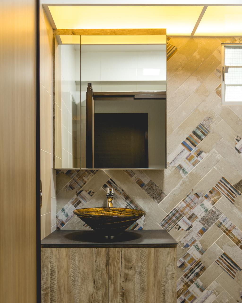Modern, HDB, Bathroom, Canberra Walk, Interior Designer, Archive Design