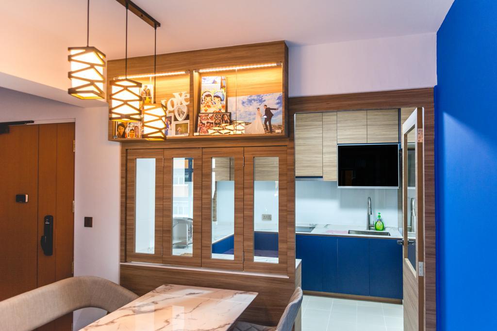 Modern, HDB, Dining Room, Canberra Walk, Interior Designer, Archive Design