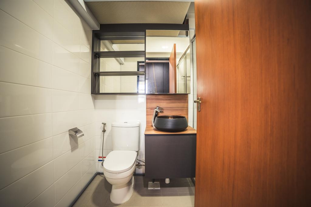 Contemporary, HDB, Bathroom, Jalan Tenteram, Interior Designer, Archive Design, Modern