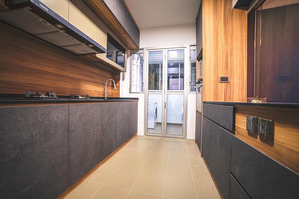 Contemporary, HDB, Kitchen, Jalan Tenteram, Interior Designer, Archive Design, Modern