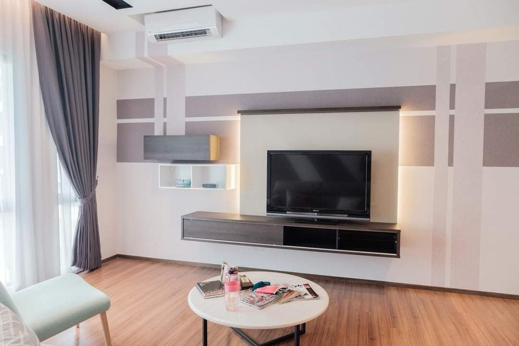 Modern, Condo, Living Room, The Potpourri, Ara Damansara, Interior Designer, Y&L Concept Studio, Contemporary
