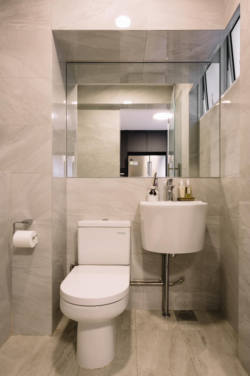 Contemporary, HDB, Bathroom, Race Course Road, Interior Designer, Schemacraft, Modern