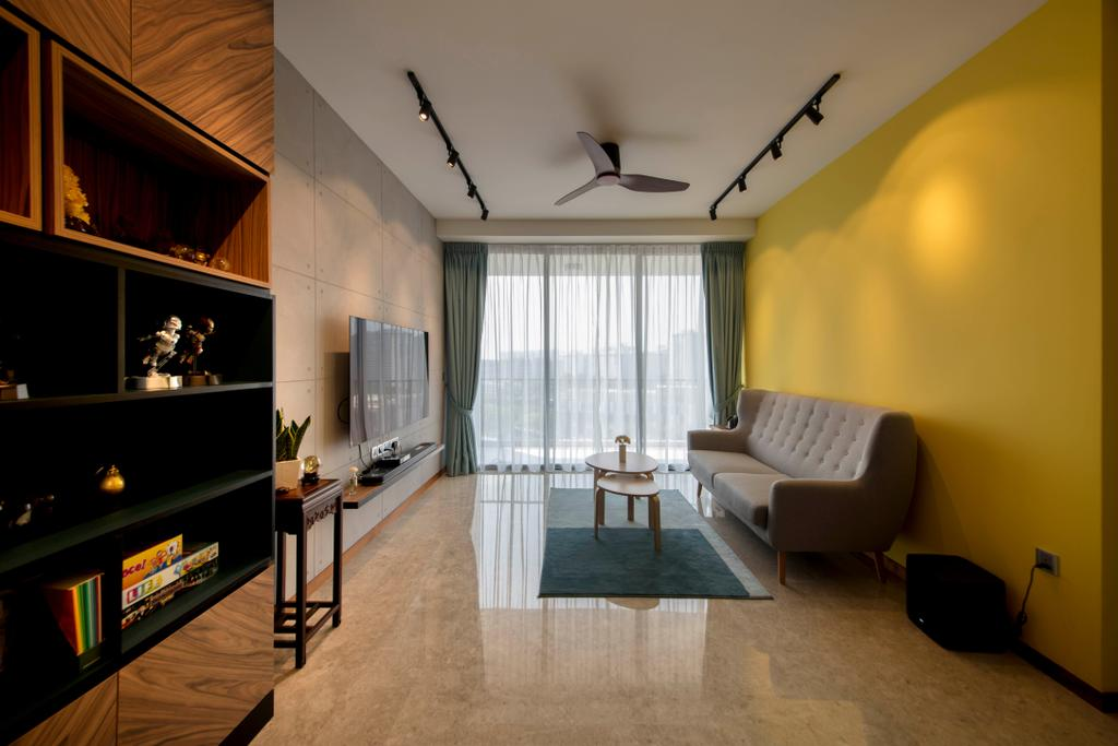 Contemporary, Condo, Living Room, The Venue Residences, Interior Designer, Ascenders Design Studio
