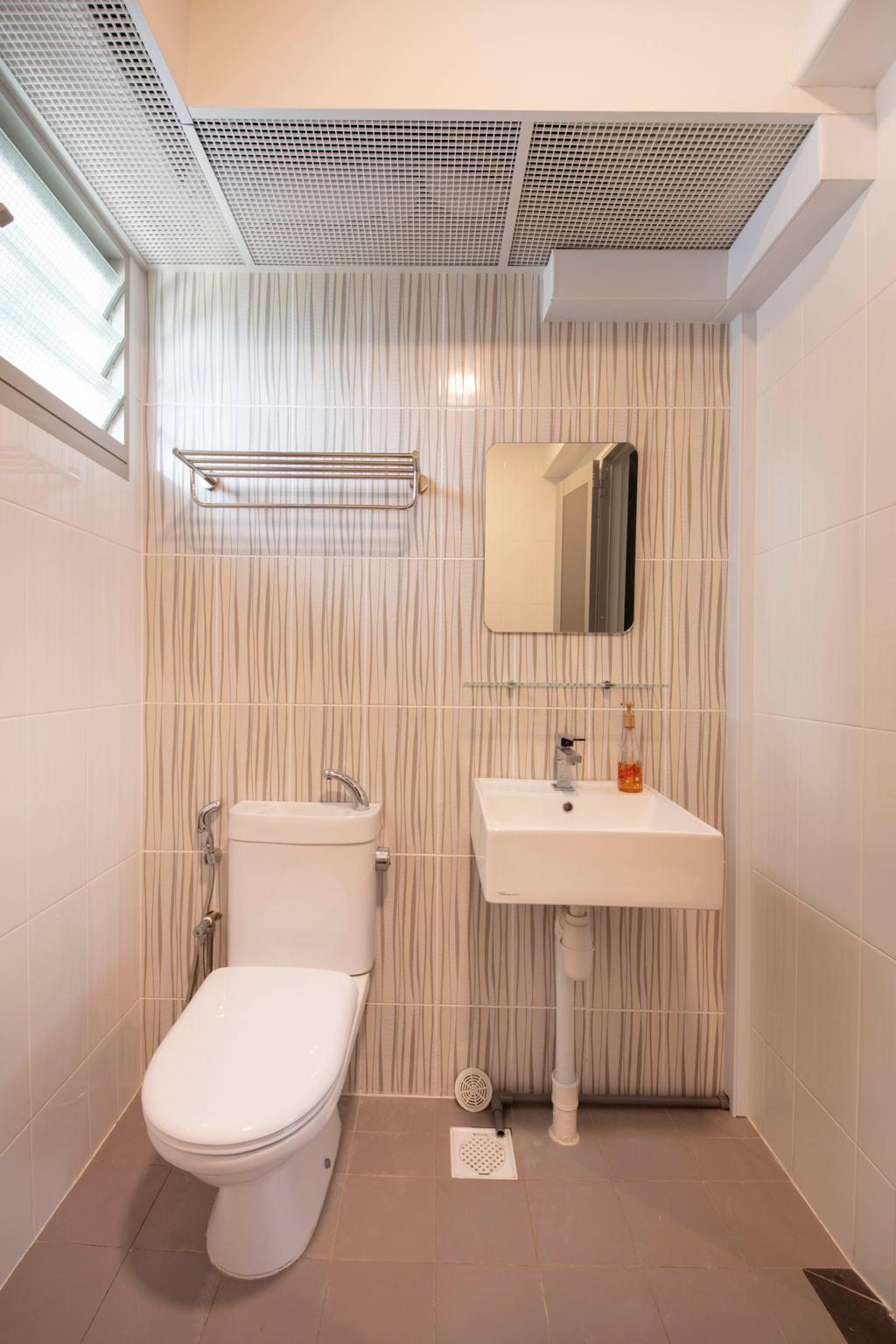 Modern, HDB, Bathroom, Tampines Street 45, Interior Designer, Posh Living Interior Design, Contemporary