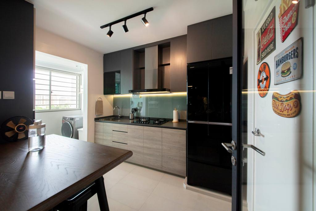 Modern, HDB, Kitchen, Tampines Street 45, Interior Designer, Posh Living Interior Design, Contemporary