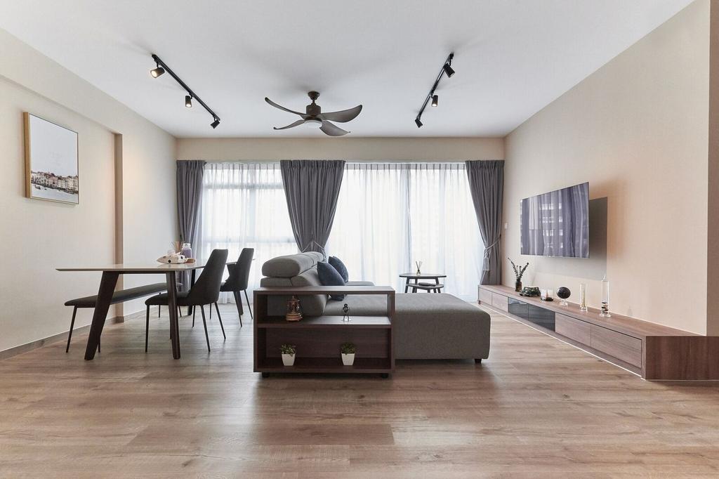 Modern, HDB, Living Room, Edgedale Plains, Interior Designer, Charlotte's Carpentry, Contemporary