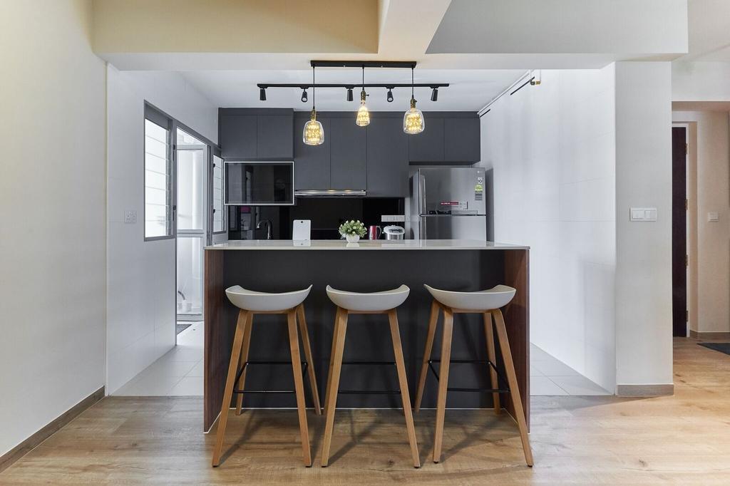 Modern, HDB, Dining Room, Edgedale Plains, Interior Designer, Charlotte's Carpentry, Contemporary