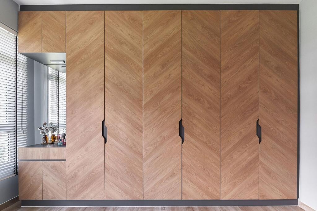 Modern, HDB, Bedroom, Edgedale Plains, Interior Designer, Charlotte's Carpentry, Contemporary