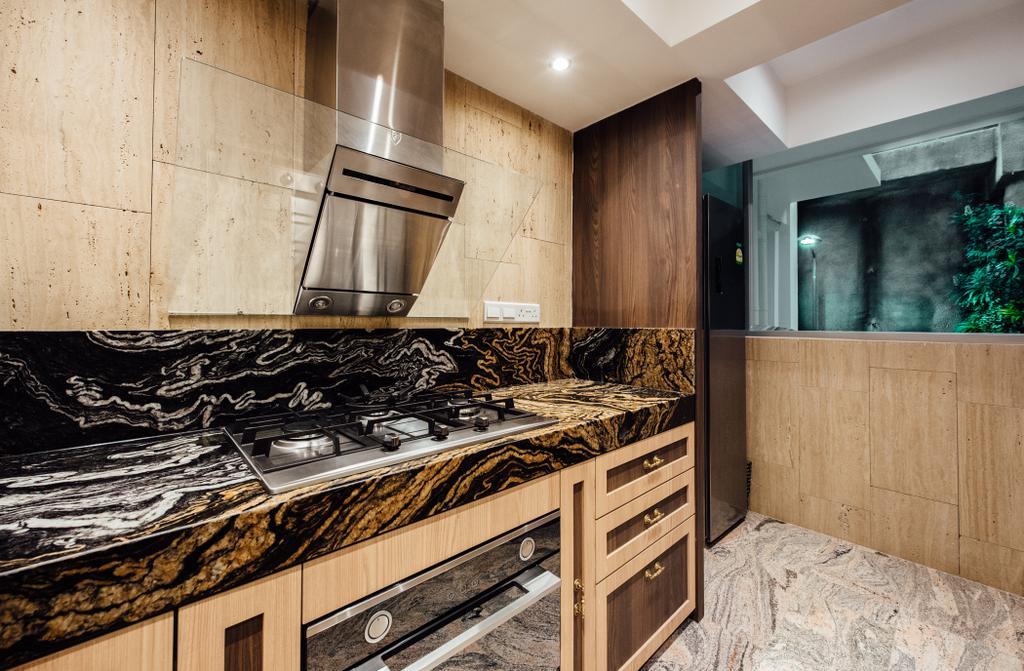 Contemporary, HDB, Kitchen, Bedok North Street 4, Interior Designer, Fatema Design Studio