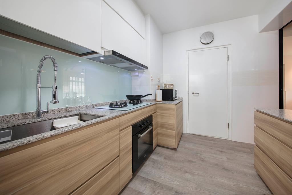 Contemporary, HDB, Kitchen, Canberra, Interior Designer, Aart Boxx Interior