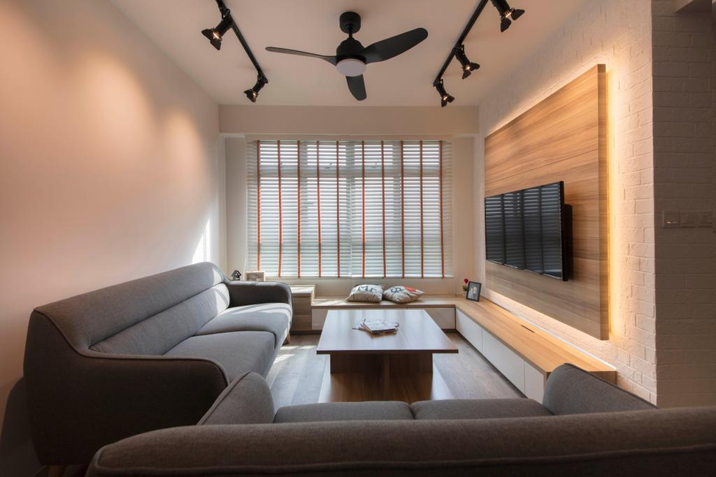 Contemporary, HDB, Living Room, Canberra, Interior Designer, Aart Boxx Interior