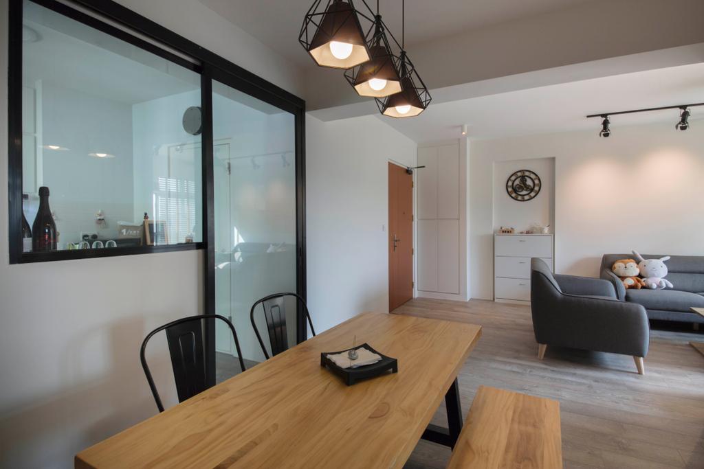 Contemporary, HDB, Dining Room, Canberra, Interior Designer, Aart Boxx Interior