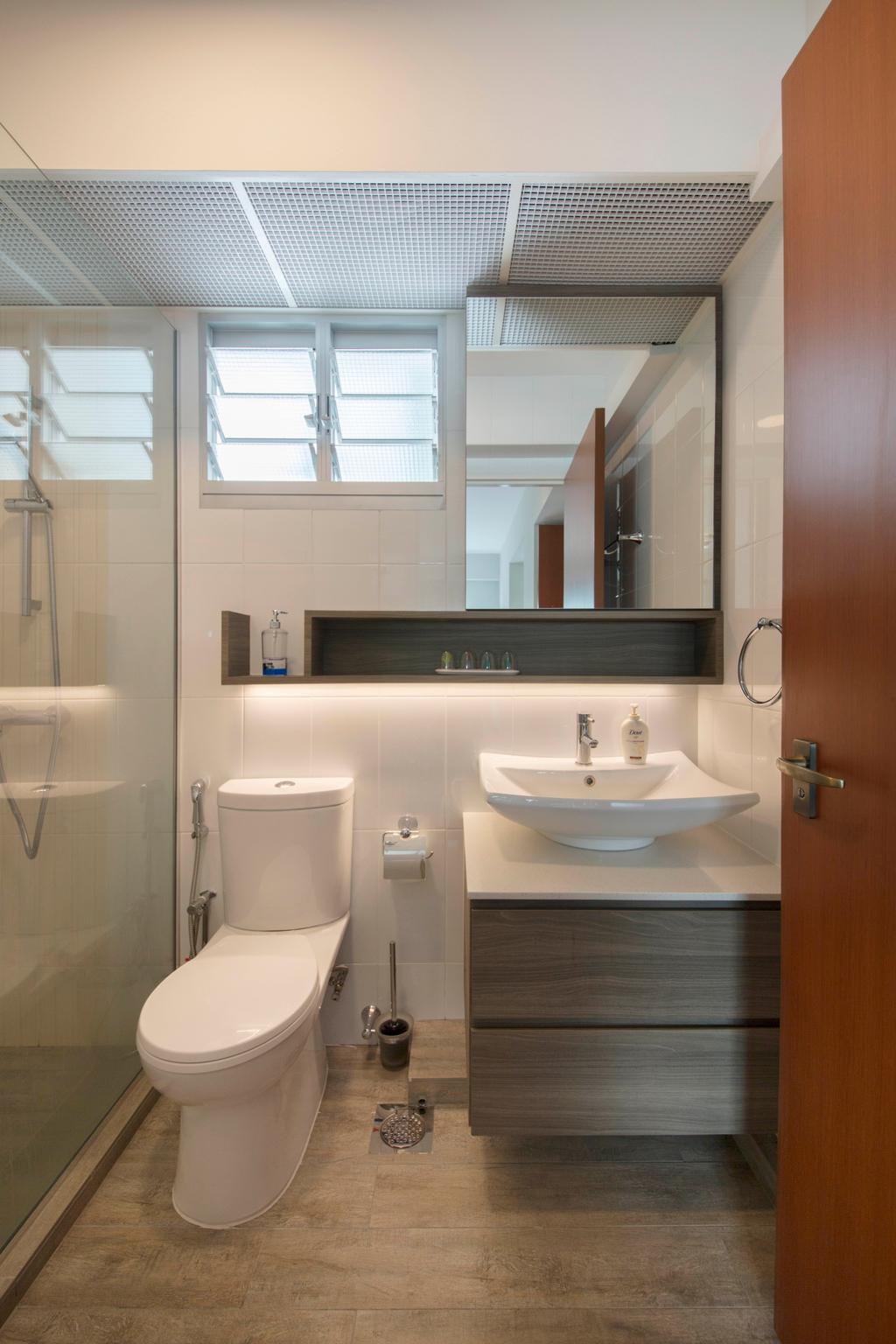 Contemporary, HDB, Bathroom, Canberra, Interior Designer, Aart Boxx Interior