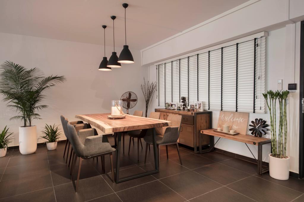 Contemporary, HDB, Dining Room, Elias Road, Interior Designer, Aart Boxx Interior, Modern
