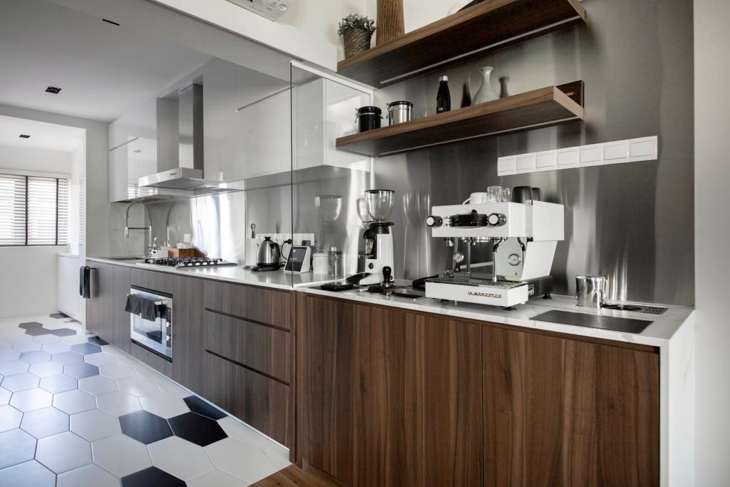 Modern, HDB, Kitchen, Marsiling Rise, Interior Designer, Aart Boxx Interior, Contemporary