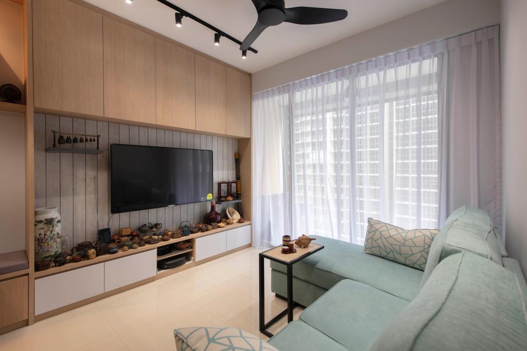 Scandinavian, Condo, Living Room, Sol Acres, Interior Designer, Aart Boxx Interior