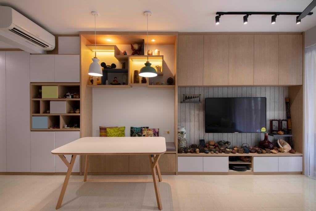 Scandinavian, Condo, Dining Room, Sol Acres, Interior Designer, Aart Boxx Interior