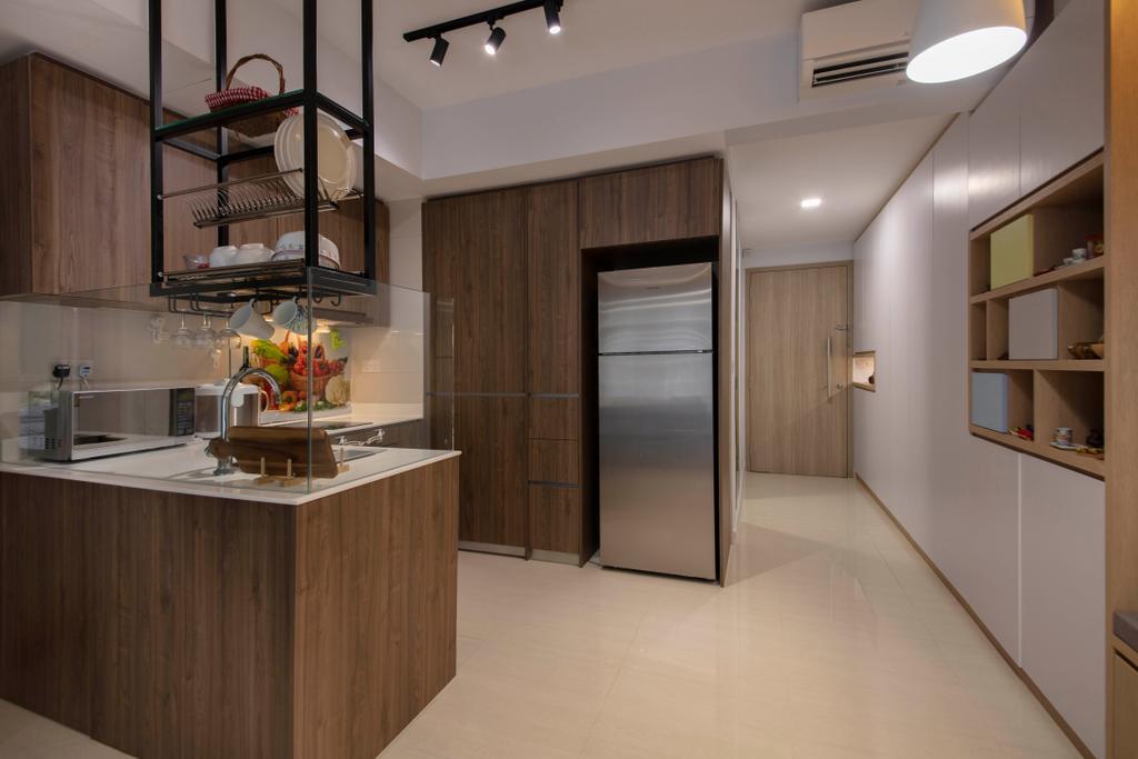 Scandinavian, Condo, Kitchen, Sol Acres, Interior Designer, Aart Boxx Interior