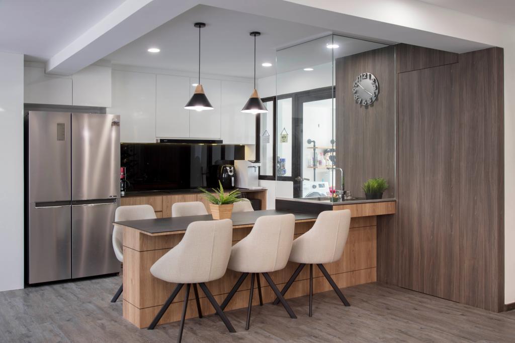 Contemporary, HDB, Dining Room, Tampines Street 72, Interior Designer, Aart Boxx Interior