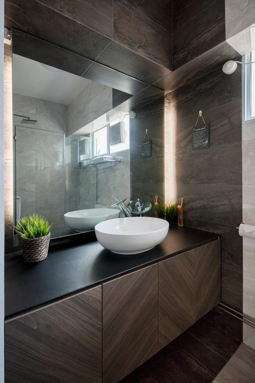 Contemporary, HDB, Bathroom, Tampines Street 72, Interior Designer, Aart Boxx Interior