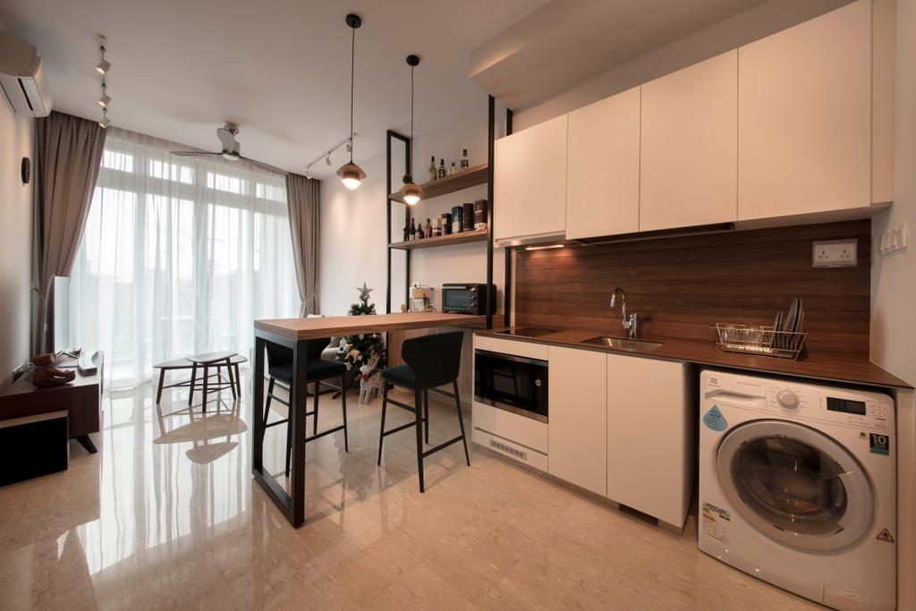 Minimalistic, Condo, Kitchen, Waterfront @ Faber, Interior Designer, Aart Boxx Interior