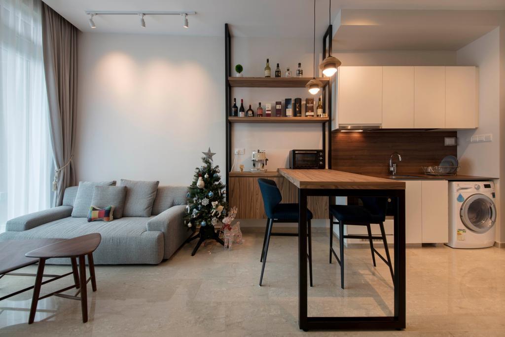 Minimalistic, Condo, Living Room, Waterfront @ Faber, Interior Designer, Aart Boxx Interior