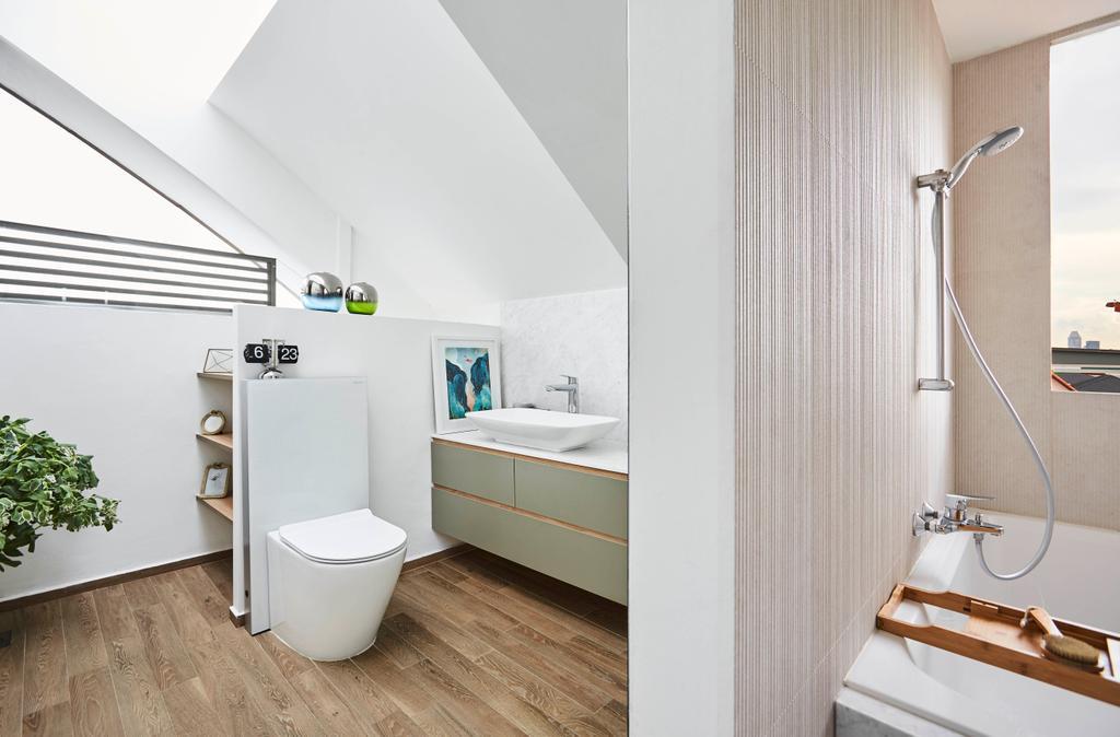 Contemporary, Condo, Bathroom, Haig Eleven, Interior Designer, Bowerman, Bath Tub, Bathtub