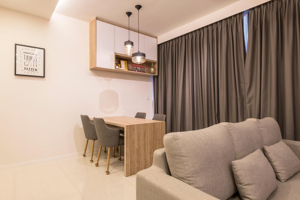 Modern, Condo, Dining Room, The Amore, Interior Designer, Space Atelier