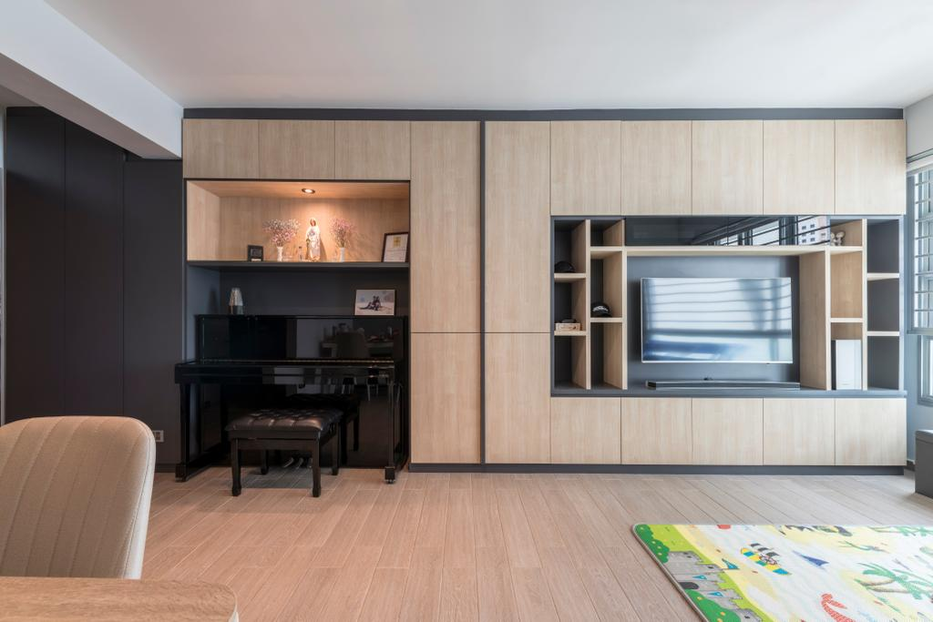 Modern, HDB, Living Room, Telok Blangah Street 31, Interior Designer, Glamour Concept