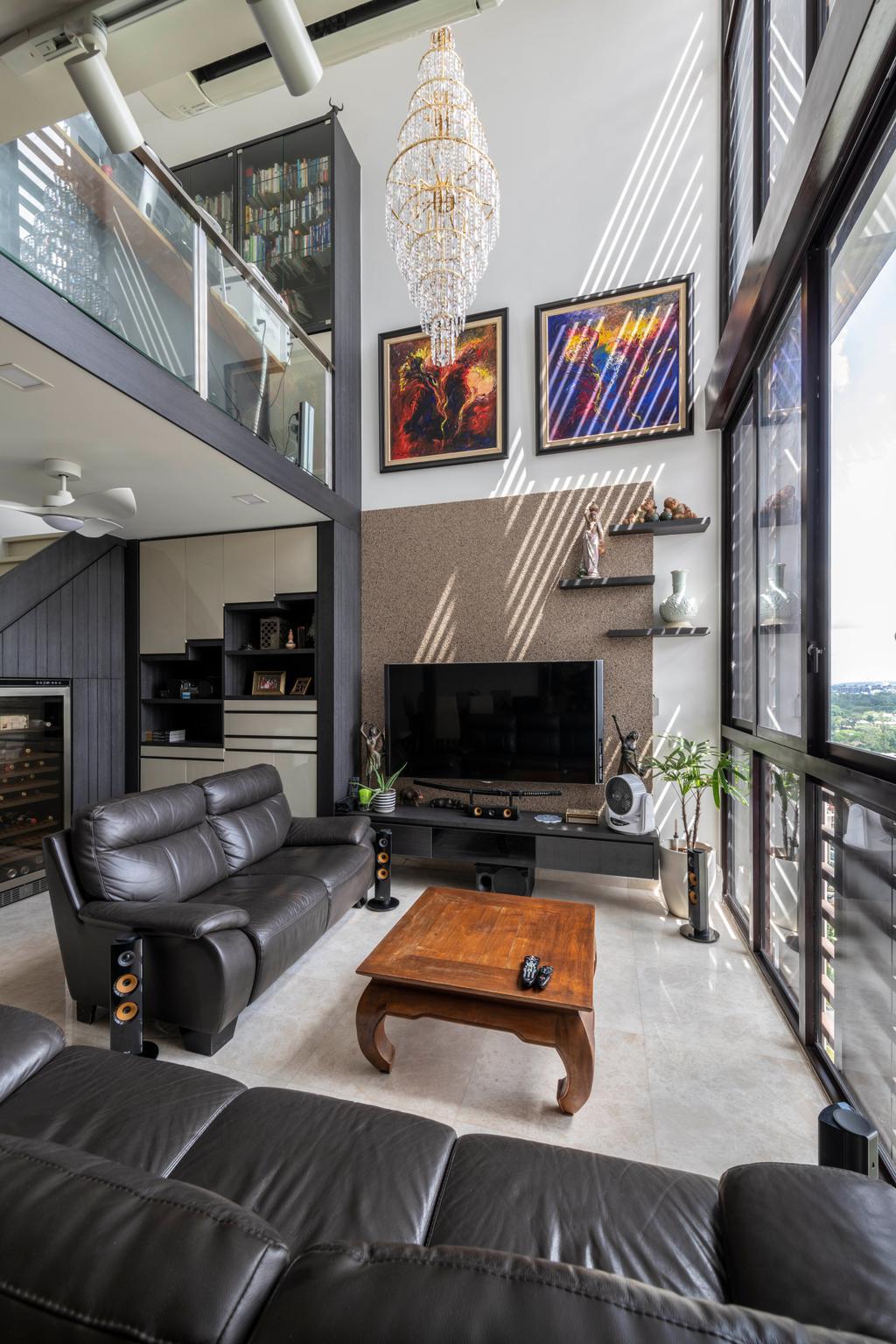 Modern, Condo, Living Room, The Crest, Interior Designer, Space Concepts Design