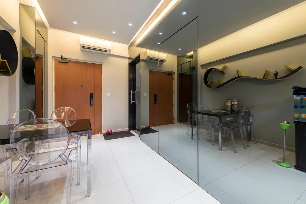 Transitional, HDB, Dining Room, Yishun Avenue 4, Interior Designer, Hub One Builder