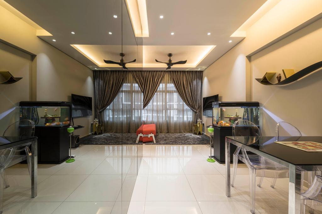 Transitional, HDB, Living Room, Yishun Avenue 4, Interior Designer, Hub One Builder