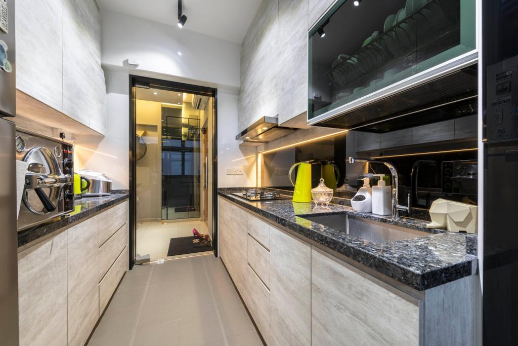 Transitional, HDB, Kitchen, Yishun Avenue 4, Interior Designer, Hub One Builder