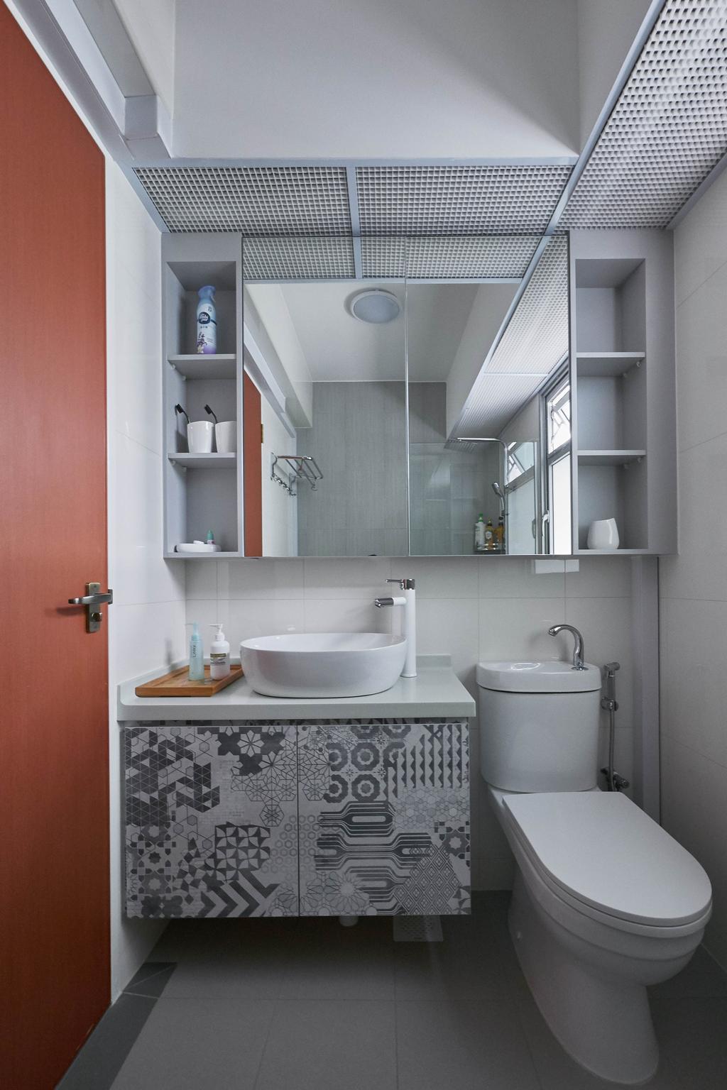 Scandinavian, HDB, Bathroom, Sumang Lane, Interior Designer, D Initial Concept