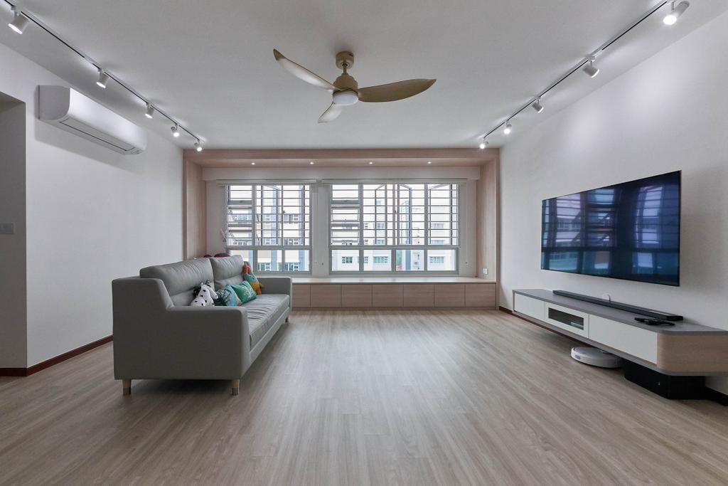 Scandinavian, HDB, Living Room, Sumang Lane, Interior Designer, D Initial Concept