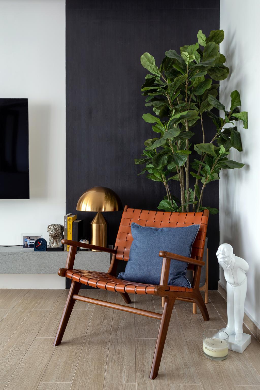 Contemporary, HDB, Living Room, Ang Mo Kio Street 44, Interior Designer, Style Living Interior, Cosy Nook, Arm Chair