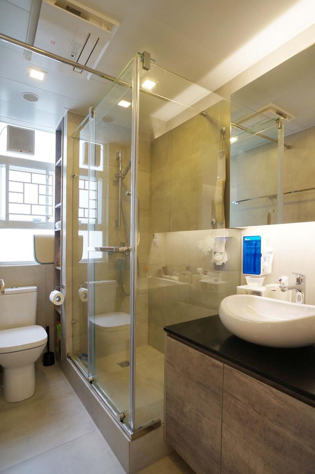 當代, 私家樓, 浴室, 芝齡大廈, 室內設計師, 和生設計