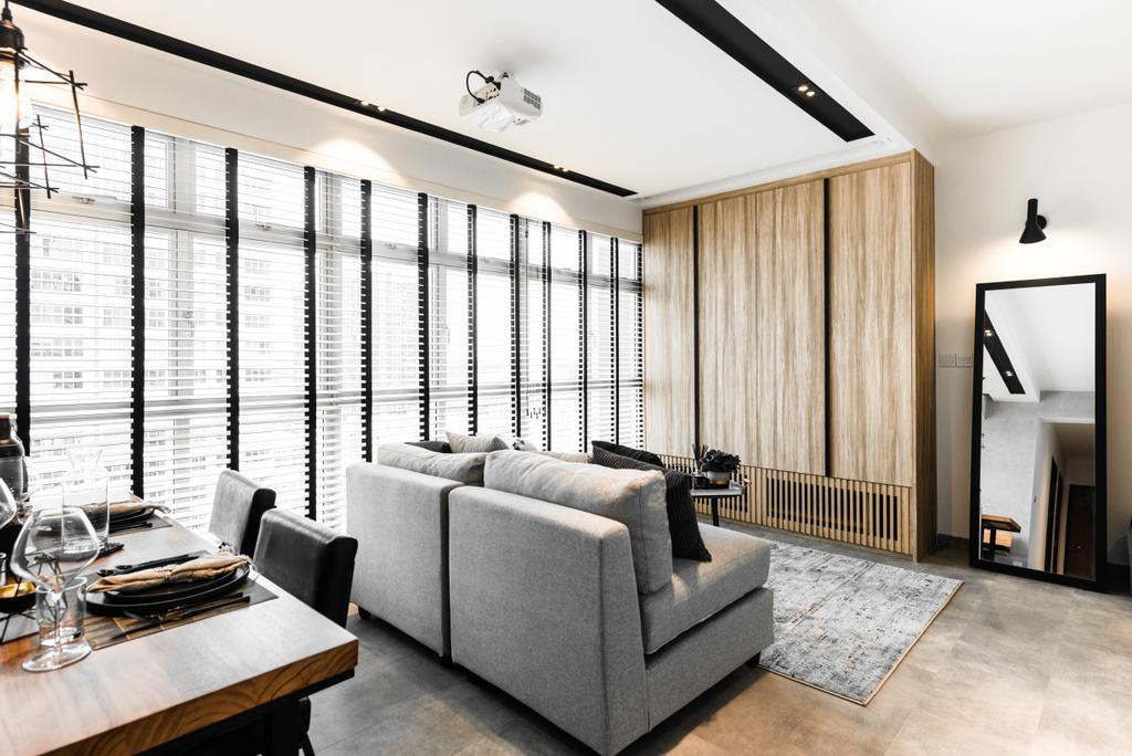 Modern, Condo, Living Room, Clementi, Interior Designer, Mr Shopper Studio, Contemporary