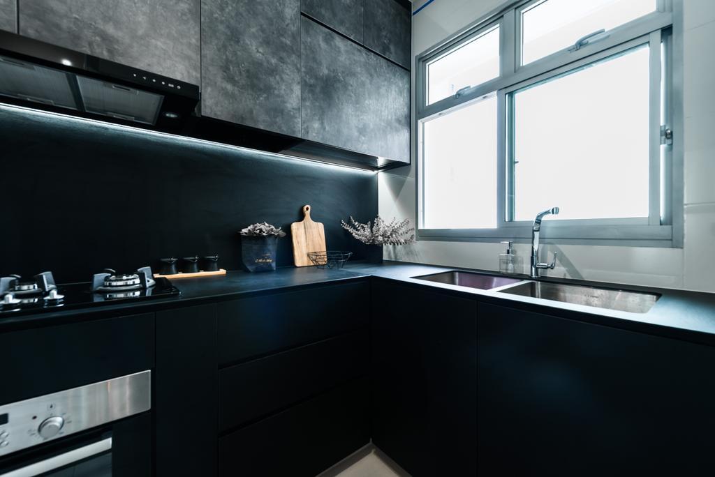 Modern, Condo, Kitchen, Clementi, Interior Designer, Mr Shopper Studio, Contemporary