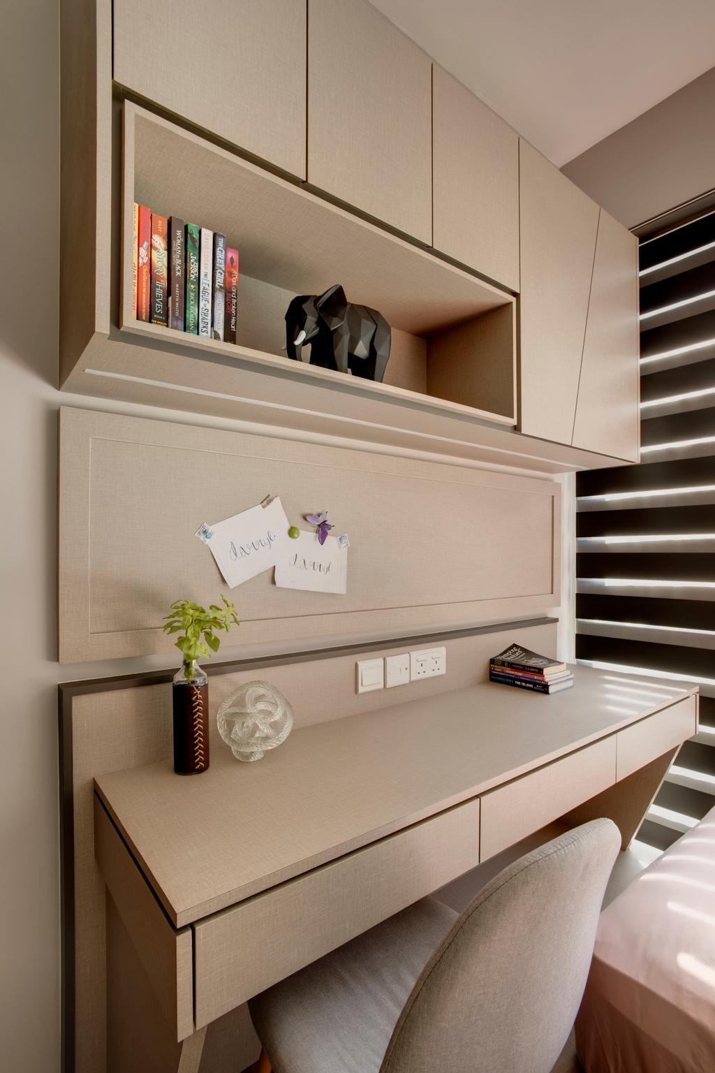 Contemporary, Condo, Study, Bellewoods, Interior Designer, Juz Interior, Modern