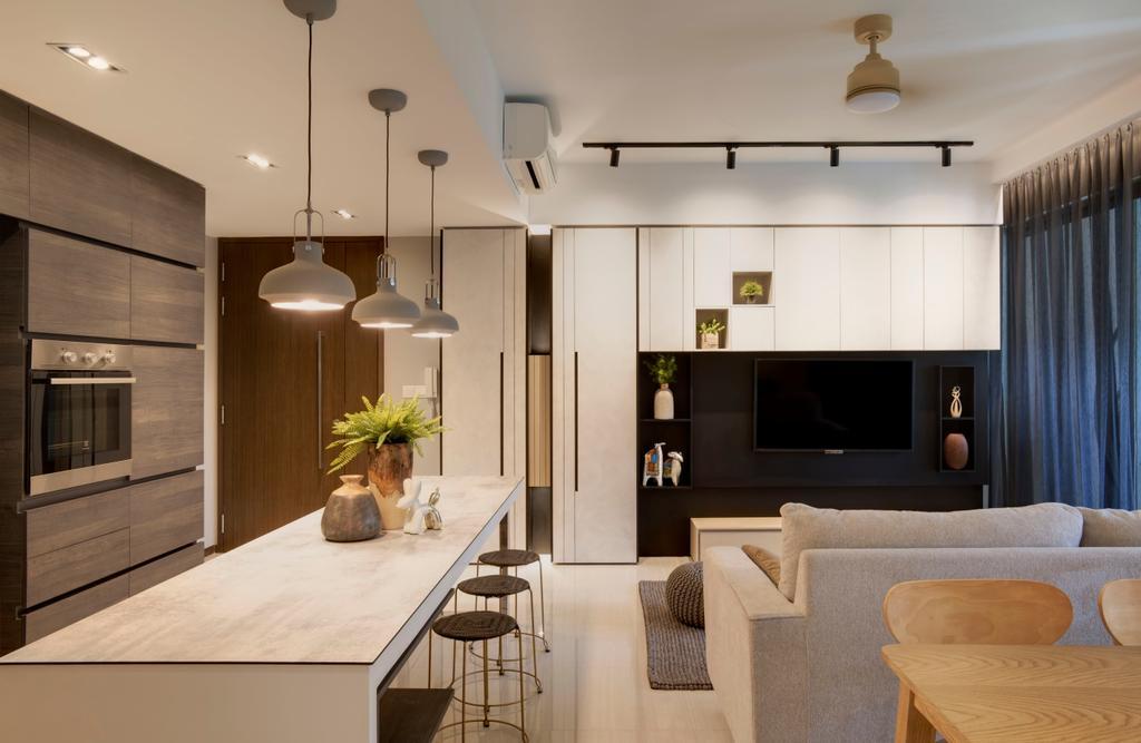 Contemporary, Condo, Living Room, Bellewoods, Interior Designer, Juz Interior, Modern