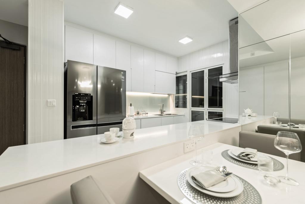 Modern, HDB, Kitchen, Skyline II, Interior Designer, Mr Shopper Studio