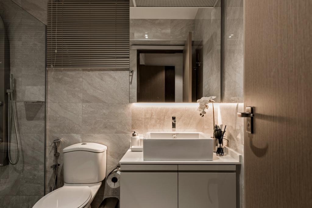 Modern, HDB, Bathroom, Skyline II, Interior Designer, Mr Shopper Studio