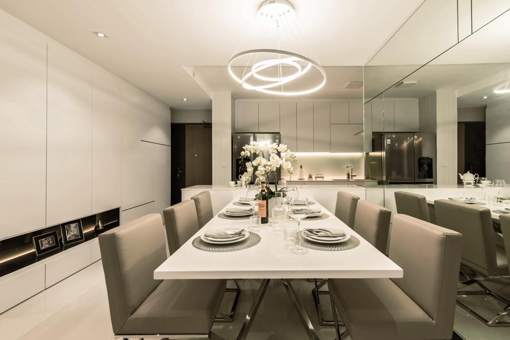 Modern, HDB, Dining Room, Skyline II, Interior Designer, Mr Shopper Studio