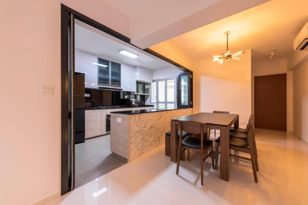 Modern, HDB, Dining Room, Canberra Street, Interior Designer, Design Story