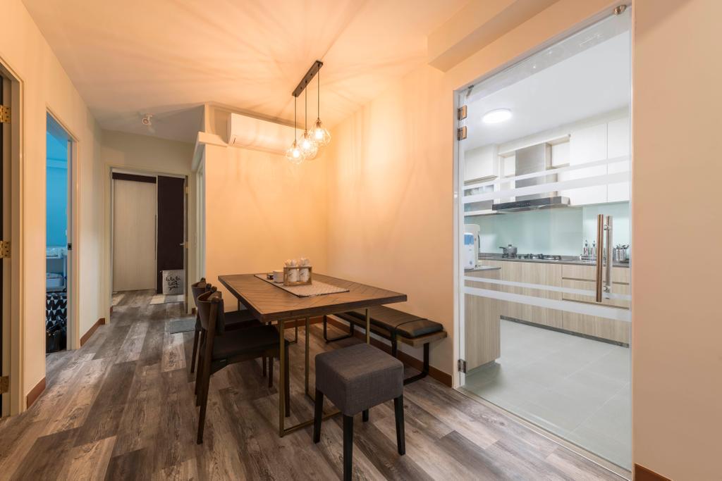 Contemporary, HDB, Dining Room, Tampines Avenue 8, Interior Designer, AgcDesign