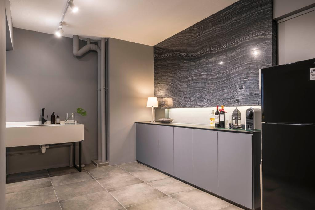 Contemporary, HDB, Kitchen, Tampines Street 22, Interior Designer, M3 Studio