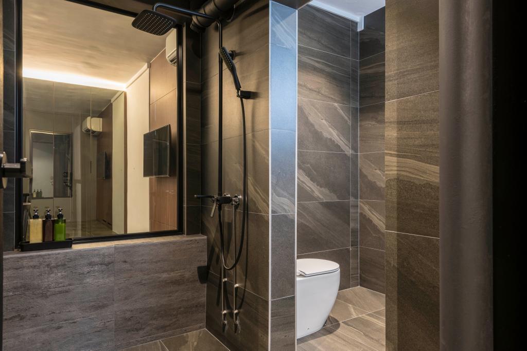 Contemporary, HDB, Bathroom, Tampines Street 22, Interior Designer, M3 Studio