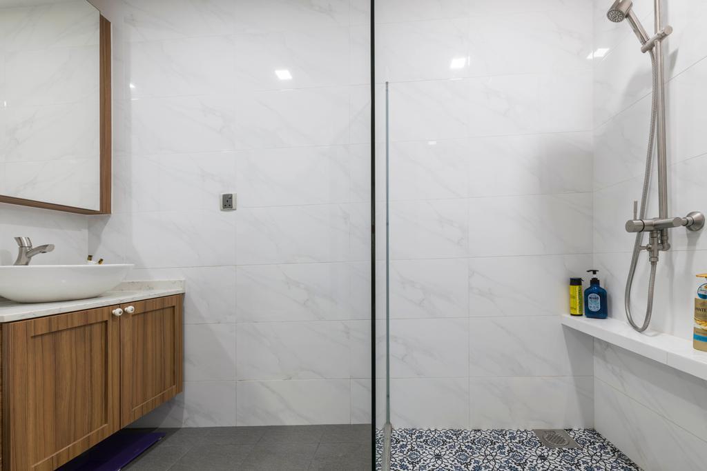 Vintage, Condo, Bathroom, Penhas Road, Interior Designer, Goodman Interior
